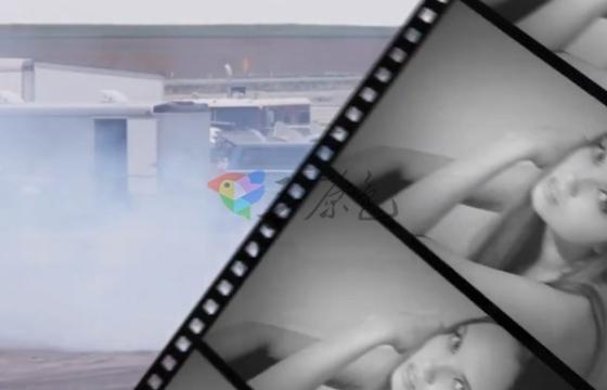 AE模板 创意电影胶片飞入转场过渡效果 Clean Film Transitions