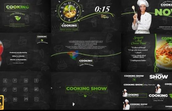 AE模板 4K酒店厨师烹饪节目宣传广告 Cooking Show Broadcast