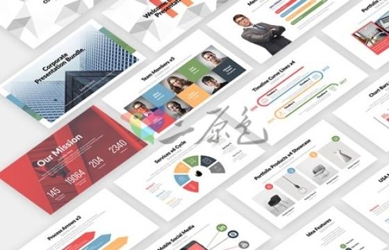 AE模板 信息图表 介绍 地图 MG图形动画 Corporate Infographics