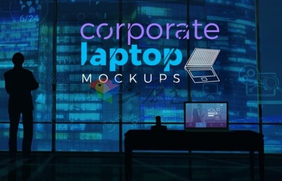 AE模板 时尚的公司笔记本展示开场片头 Corporate Laptop Mockups