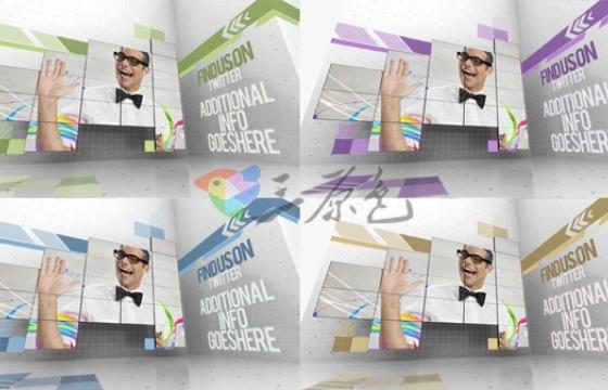 AE模板 创意照片视频墙文字标题展示片头 Creative Video Wall