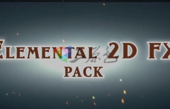 AE模板 视频素材 300多手绘卡通动画视频素材模板 Elemental 2D