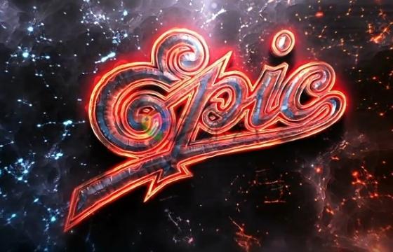 AE模板 史诗级熔岩火焰电影视频片头文字标题  Epic Logo