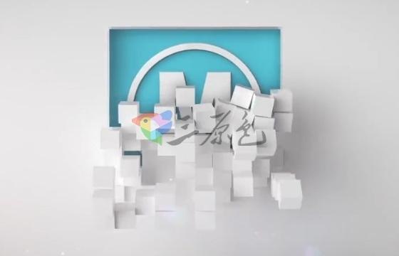 AE模板 三维分裂方块落下掉落Logo演绎 Falling Cubes Logo