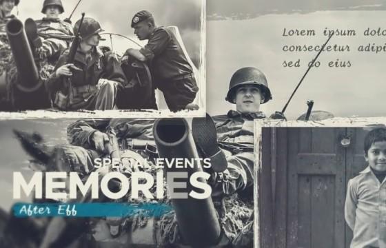 AE模板 历史纪录片老式幻灯片 Historical Vintage Documentary Slideshow