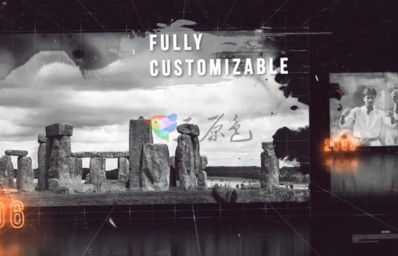 AE E3D模板 纵向三维空间 历史记忆 事件回顾 History Slideshow