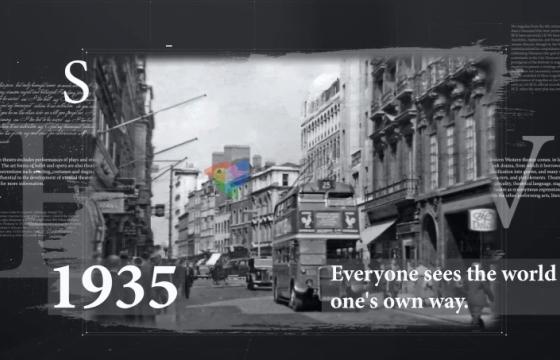 AE模板 历史历程时间表回忆录相册模板 History Timeline