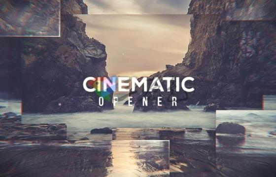 AE模板 景点旅游风景视频图片幻灯片相册 Cinematic Opener