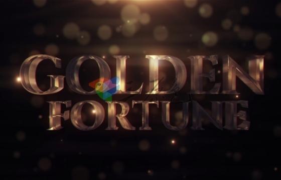 AE模板 黄金文字标题动画片头 Golden Fortune