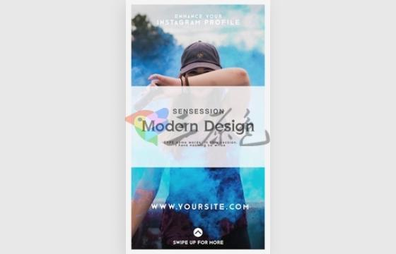 AE模板 朋友圈短视频产品竖屏促销广告展示 Instagram Stories v.2