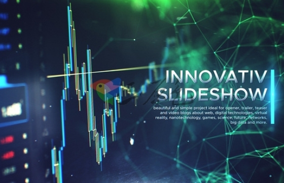 AE模板-科技感人工智能 大数据开场片头 Innovative Slideshow