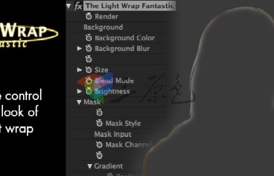 Ae Pr蓝绿幕抠像边缘处理辅助插件Digital Anarchy Light Wrap Fantastic v1.1