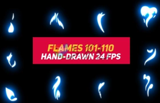 AE模板 模拟液体卡通火焰动画元素 Liquid Elements 2 Flames