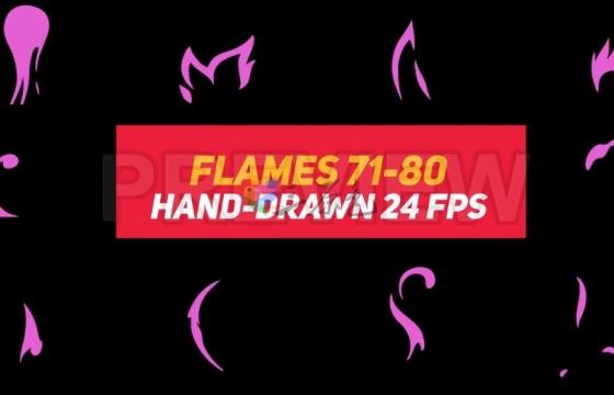 4K动画视频素材 高清液体火焰元素 Liquid Elements 2 Flames