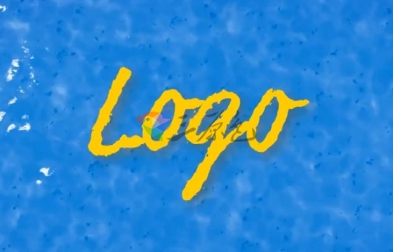 AE模板 水纹水波涟漪Logo演绎片头特效 Logo Reveal