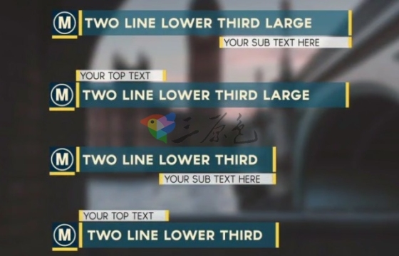 AE模板 扁平化MG文字字幕条图形动画模板 Lower Thirds