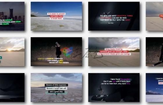 Pr模板 视频媒体文字字幕标题排版动画工具包 Media Titles Pack
