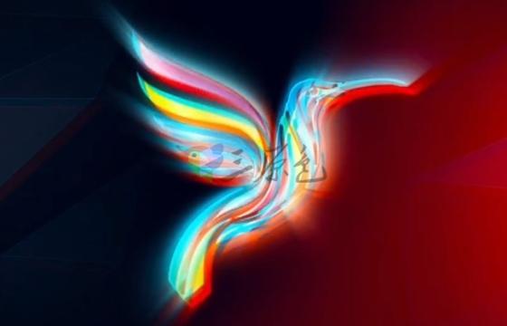 AE模板-发光射线光芒Logo展示 Modern Logo