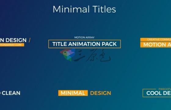 Pr模板 30个字幕文字标题动画图形 Pr Motion Titles Pack
