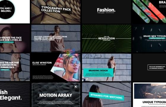 Pr模板 创意运动文字片头动画文字排版动画标题 Motion Typo
