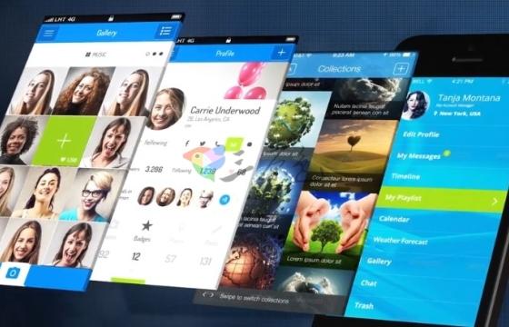 AE模板 手机APP应用程序界面功能演示 Phone App Presentation
