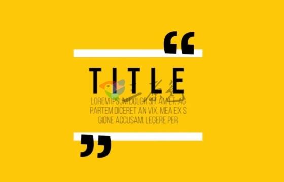 Pr模板 图形动画 引用 气泡对话框 文字标题 Quotes