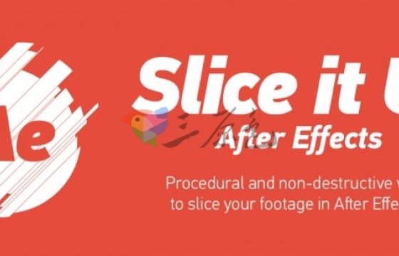 AE随机切片动画控制脚本 Aescripts Slice it Up v2.0 Win/Mac