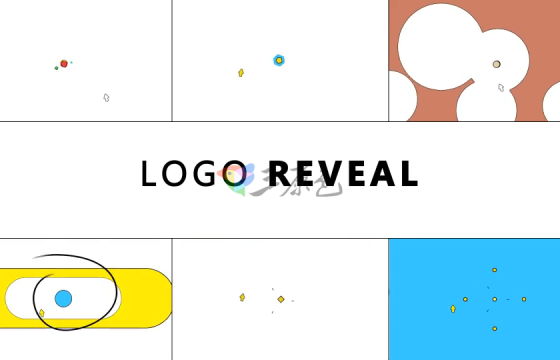 Ae模板 扁平化MG动画Logo展示Simple Cartoon Logo Reveal