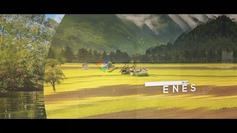 Ae模板 图片扭曲视差片头开场Magnifier Parallax Slideshow Ae 模板-第1张