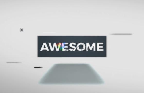 Ae模板 方块翻转文字Logo动画Cube Spin Logo Reveal