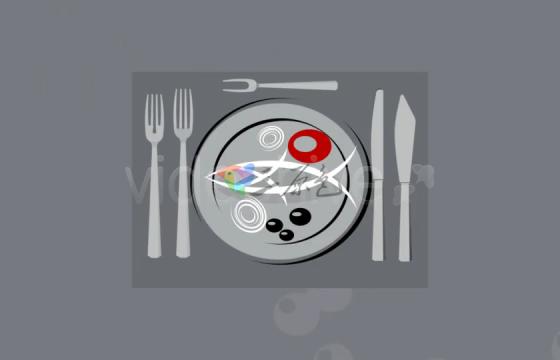 Ae模板 抽象简笔画餐厅食物宣传片Restaurant theme