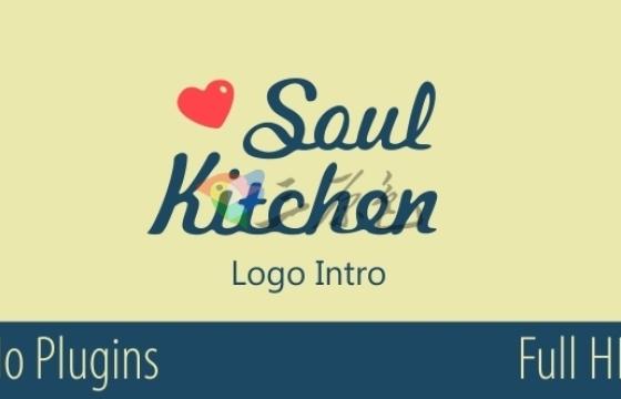AE模板 厨房西餐厅图形动画标志介绍 Soul Kitchen Logo Intro