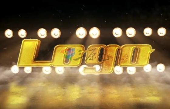 AE模板 竞技场聚光灯下的Logo文字标志 Sports Arena Logo