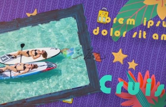AE模板 卡通夏季景色 旅游景点 图片视频字幕标题动画 Summer