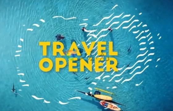 AE模板 旅游风景宣传 时尚文字标题片头包装 Travel Opener