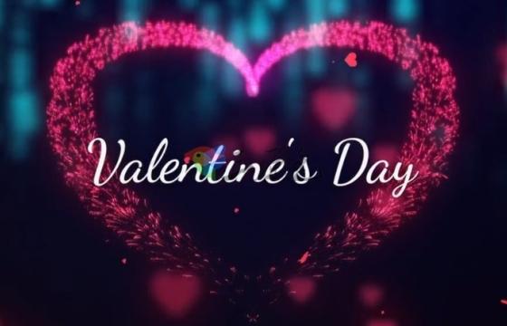 Pr模板 浪漫情人节 婚礼相册照片视频片头 Valentine's Day