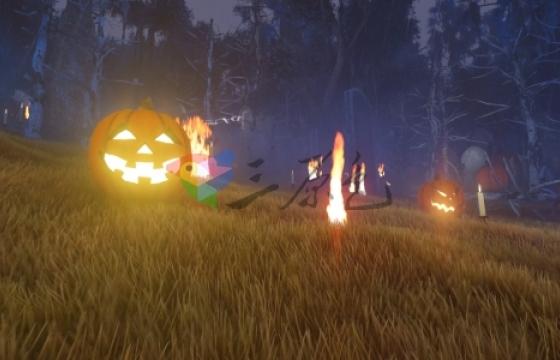 Ae模板 万圣节南瓜灯恐怖森林开场Halloween Intro