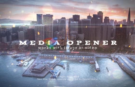 Ae模板 图片视频幻灯片展示开场Media Opener