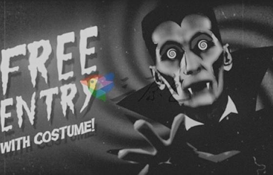 黑白万圣节僵尸骷髅吸血鬼蝙蝠开场Halloween