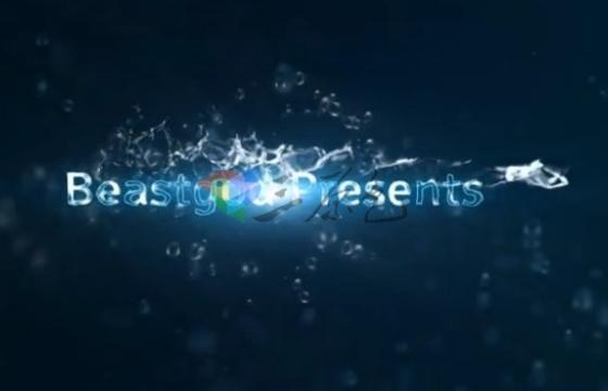 AE模板 水纹水波涟漪特效文字标题片头 Water Titles