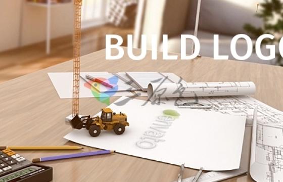 AE模板 建筑工程挖掘机Logo展示片头 Videohive Build Logo