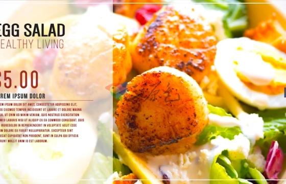 Ae模板 餐厅食物介绍宣传片头Restaurant Digital Food Menu