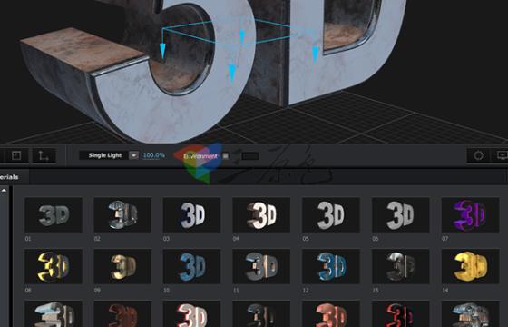 Element 3D v2插件 E3D材质纹理 斜角预设 工具包