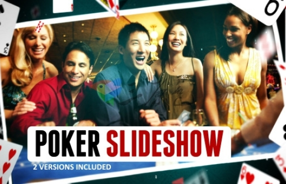 AE模板 扑克牌相册卡片幻灯片 Poker Cards Slideshow