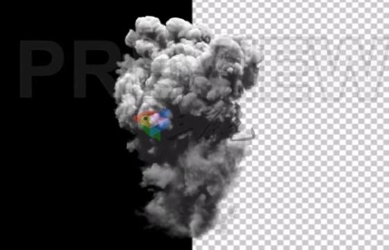 高清视频素材 蘑菇云爆炸烟雾升起 Smoke 2