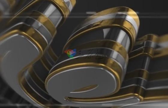 AE模板 三维文字标题动画特效片头 3D Metal Logo