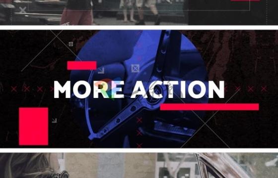 AE模板 都市冲突电影媒体幻灯片 Urban Clash Cinematic Media