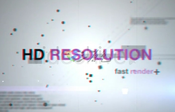 AE模板 抽象动态背景 文字标题切换片头 Videohive Abstract