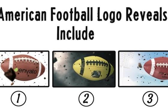 AE模板 美式橄榄球LOGO标志展示片头 American Football Logo