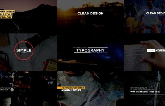 AE模板 扁平化创意字幕条标题排版动画 Animated Typography Pack